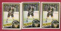 3 X 1984-85 OPC # 8 BRUINS MARKWART  NRMT  ROOKIE CARD
