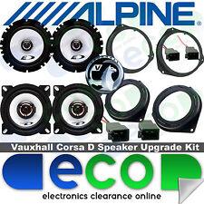 Vauxhall ZAFIRA B 06-12 Alpine 800 Watts Puerta Frontal & Kit De Altavoz De Coche Puerta Trasera