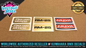 *NEW* Araya RM-25 Super Anodized Rim / Wheel BMX Decal Stickers (1 SET)