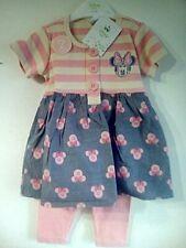 Completo Minnie neonata 6 / 9 mesi set 2 pezzi con leggings