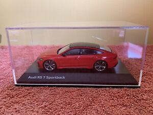 Audi RS7 Tango Red 1:43 - Audi Sport Model Car Package, Rare Model!