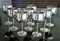 Set of 8 SILVER PLATED Large Vintage EPNS Goblets from Rod and Alana Stewart