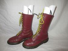 💥Dr. Martens Doc England Rare 80's Vintage Leather 14 Eye Boots UK6 US8