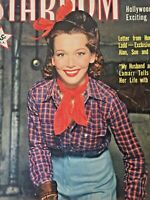 Vintage Collectible Movie Magazine Stardom September 1943 Carol Landis Cover
