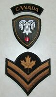 1 Canadian Mechanized Brigade Group & Master Corporal Rank Arch Garrison Patch