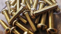 """0BA x 3/4"""" SOLID BRASS SLOTTED ROUND HEAD BA MACHINE SCREWS MODEL ELECTRONIC"""