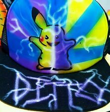 Pokemon Go Custom Airbrush Trucker Hat! Ditto snapback personalized Pokémon