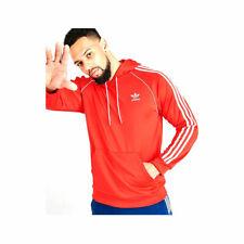Adidas Men's Originals Superstar Pullover Hoodie Red White GD2216 AUTHENTIC NEW