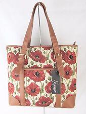 Tapestry Poppy Flower Design Handbag or Shoulder Bag Ext Pouch Signare