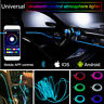 6M 5in1 Fiber Optic Neon RGB Light Strip APP Bluetooth Waterproof Decor Party