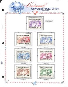 [OP7266] Worldwide UPU lot of stamps on 12 pages
