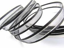 """25 yard Organza Sheer 3/8"""" Ribbon/Silver Trim/Craft/Classic/Wedding R56-38-Black"""