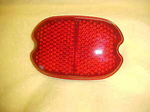 Harley,FL, FLH,55-68, new Tail light lens,glass with Guide number on face