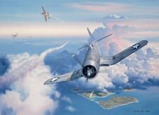 """""""Zero Fighter Sweep"""" Roy Grinnell Print co-signed by Ace Lt. Kenneth A. Walsh"""