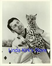 "Jack Palance & Leopard Cub Promotional Photograph ""Greatest Show On Earth"" 1963"