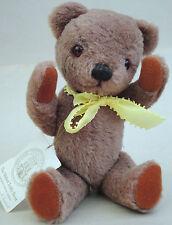 "Nisbet Teddy Bear Childhood Classics 10"" Peggy signed UK Mohair Plush Hang Tag"