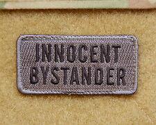 INNOCENT BYSTANDER US Army MilSpec ACU UCP Morale Patch Hook Backing