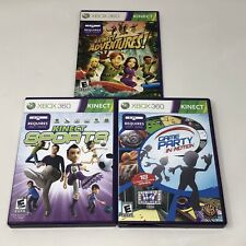 Kinect Adventures, Sports & Game Party in Motion Xbox 360 Game Lot Tested