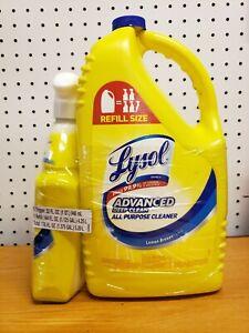Trigger bottle(32oz) Refill (144 oz) Lysol Lemon breeze All Purpose Cleaner.