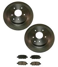 Rear Disc Brake Rotors with Brake Pads for Nissan Altima 02-15 & Maxima 04-08