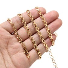 5 meters Gold Hollow Chains Stainless Steel Chain Jewelry Making Accessories