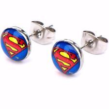 Superman Logo Steel Stud Earrings