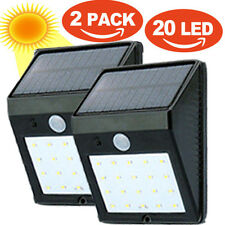 2pcs 20 LED Solar Powered Motion Sensor Security Light Outdoor Wall Garden Lamp