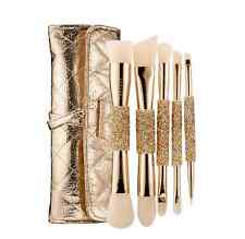 Sephora Double Time Double-Ended 5-Piece Brush Set Champagne Gold Brand New