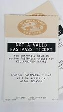 Disney FASTPASS Walt Disney World Fast Pass Ticket Kilimanjaro Safaris Not Valid