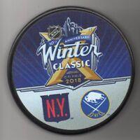 2018 Winter Classic New York Rangers Buffalo Sabres NHL Hockey Puck FREE Cube