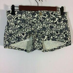 H&M Shorts Women Size 2 Floral Black White
