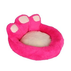 YulDek Dog Cats, Pets Bed, Soft Woolly Fleece and Warm Oval Shaped Basket Nest X