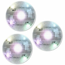 Pack of 3 Disco Ball Cut-Outs 34cm - 70s Musical Party Wall Hanging Decorations