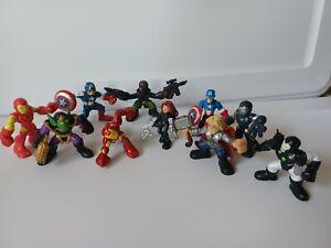 Marvel Super Hero Squad Figures Lot of 10 iron Man Captain Thor Fury Black Widow