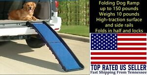 Pet Ramp Lightweight Foldable For Car SUV Truck Rubber Feet High Traction