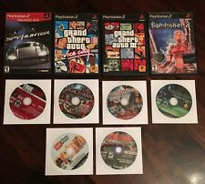 Playstation 2 PS2 Lot Of 8 +demo grand theft auto summoner crime syphon kain war