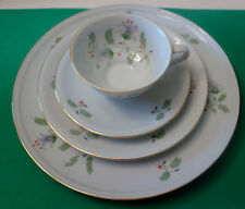 Winterling Bavaria Germany  B. Fern Pattern (Swirl Rim) 4 Piece Place Setting