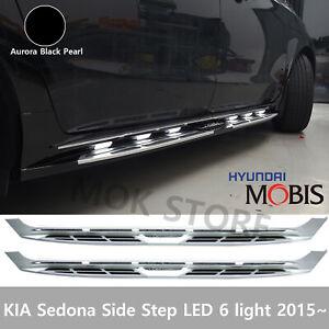 KIA Sedona All New Carnival 2015~ LED Side Step Nerf Cab Running Boards Black