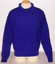 Vintage Versace V2 Merino Wool Sweater, Large, Mid 1980s, Dark Blue / Purple
