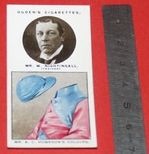 JOCKEY 1926 OGDEN'S CIGARETTES CARD TRAINERS OWNERS' COLOURS 21 W. NIGHTINGALL
