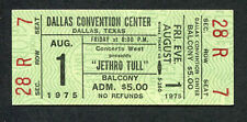 1975 Jethro Tull Unused Full concert ticket Minstrel In The Gallery Rare