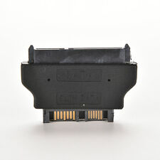 BLACK Slim SATA  22Pin female to SATA male 13Pin Adaptor Convertor Adapter MW