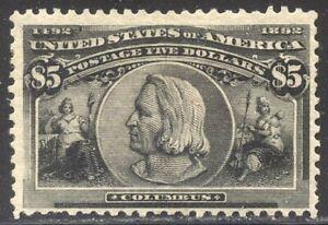 U.S. #245 Mint - 1893 $5.00 Columbian