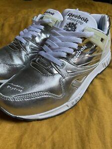 Vintage Reebok Sneakers Affili'Art John Maeda 5000 Silver Rare US 10 EUR 43