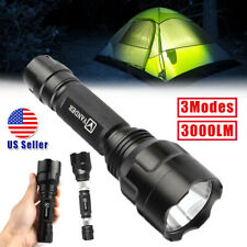 3000LM LED 18650 Rechargeable Flashlight Torch 3 Modes Waterproof Bright Lamp US