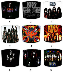 Kizz Rock Band Lampshades, Ideal To Match Kiss Music Albums & Kizz Posters