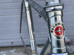 Vintage Chrome Schwinn Super Le Tour 12.2 - Lugged Steel Road Frame - BB & HS
