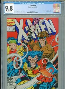 1992 MARVEL X-MEN #4 1ST APPEARANCE OMEGA RED CGC 9.8 BOX3