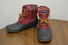 Women's Sperry Top-Sider Saltwater Duck Boots Size 6.5 STS93028