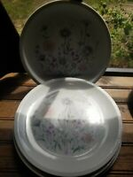 "(4) Vintage Ridgewood Fine China 10 1/2"" Dinner Plates - 1 plate has a chip"